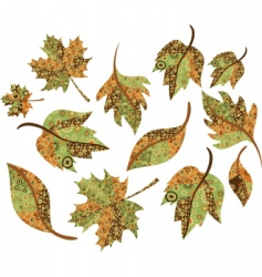 artistic leaves vector image vector image
