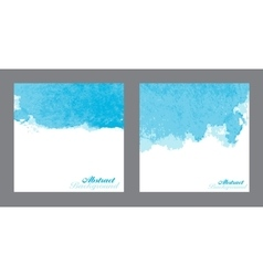 Blue Abstract Watercolor Paint Splashes vector image
