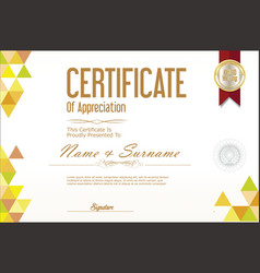 certificate template abstract geometric design vector image