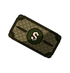 green bill dolar money vector image