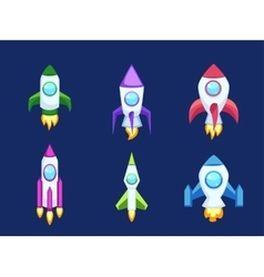 Rocket icons isolated vector