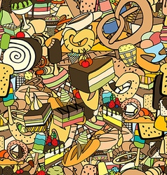 Seamless pattern of ice-cream vector image vector image