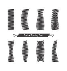 set of spiral spring vector image