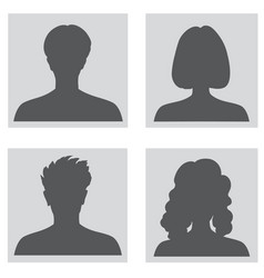 avatar set people profile set woman and man vector image vector image
