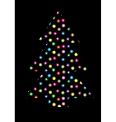Christmas tree vector image vector image
