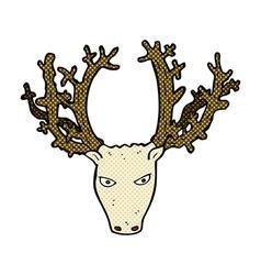 Comic cartoon stag head vector