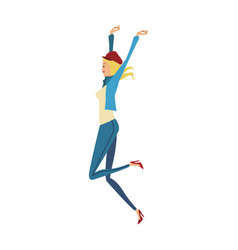 fashion woman cartoon vector image