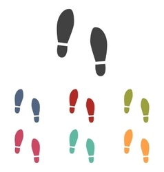 Imprint soles shoes icons set vector image