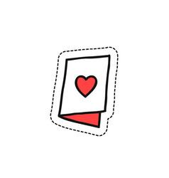 valentine card doodle icon vector image