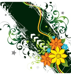 beautiful floral background vector image vector image