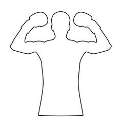 Boxer the black color icon vector
