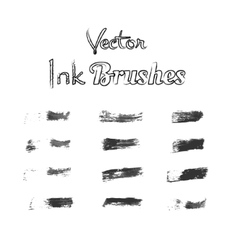 Brushes ink watercolor set vector image vector image