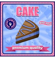 Vintage cake poster vector image vector image