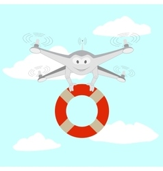 Drone Rescue on the water vector image