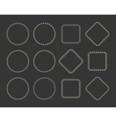 Ethnic tribal frame set vector image vector image