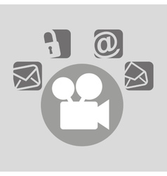 film movie bubble speech social media vector image