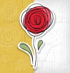 Floral background with abstract roses vector image