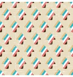 Grunge arrow seamless pattern vector image
