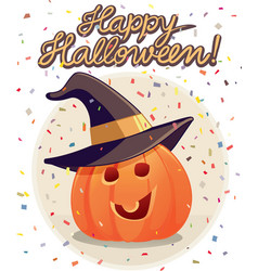 happy halloween pumpkin vector image vector image