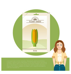 pack of corn seeds icon vector image
