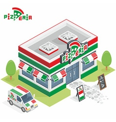 Pizzeria building vector image