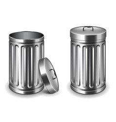 street trash bin isolated on white vector image