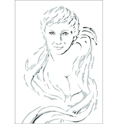 Womans face vector image