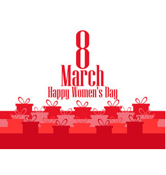 8 march day international womens day banner vector