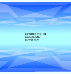 abstract blue geometric polygonal background with vector image