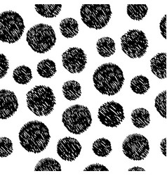 abstract hand drawn seamless pattern with doodle vector image