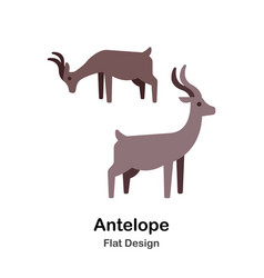 Antelope flat icon vector