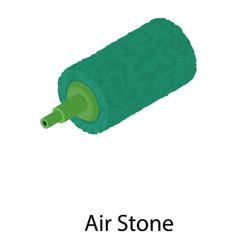 Aquarium air stone icon isometric style vector