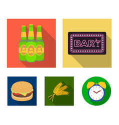 Bar pub restaurant cafe pub set collection vector