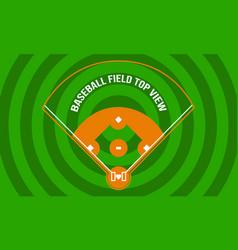 Baseball field top view outdoor background design vector