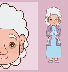 Beautiful grandmother cartoon vector