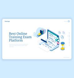 best online training exam platform banner vector image