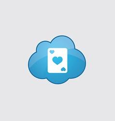 Blue poker icon vector