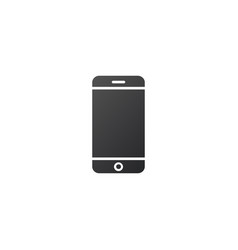 cell phone or contact icon isolated on white vector image