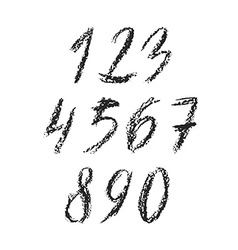 Charcoal numbers vector