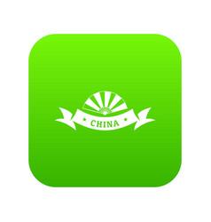 china restaurant icon green vector image