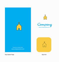 church company logo app icon and splash page vector image