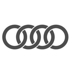 circle chain flat icon symbol vector image