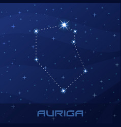 Constellation auriga charioteer night star sky vector