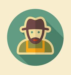 Farmers flat icon vector