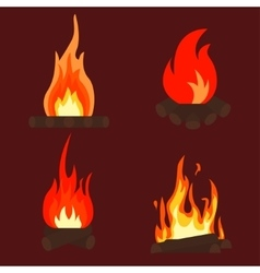 Fire bonfire vector