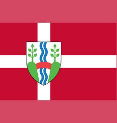 Flag of vejle in southern denmark region vector