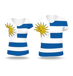 Flag shirt design of Uruguay vector image