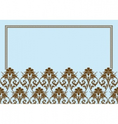Floral frame border vector