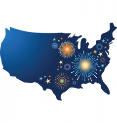 Fourth of july fireworks vector