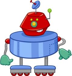 Funny robot cartoon character vector